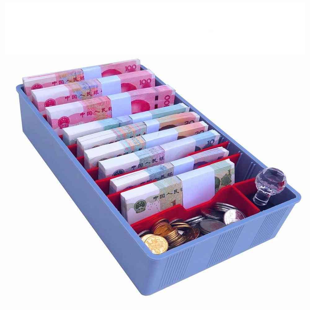Cashier Box, Five Compartments Change Drawer, Vertical, Supermarket Collection Cash Boxes