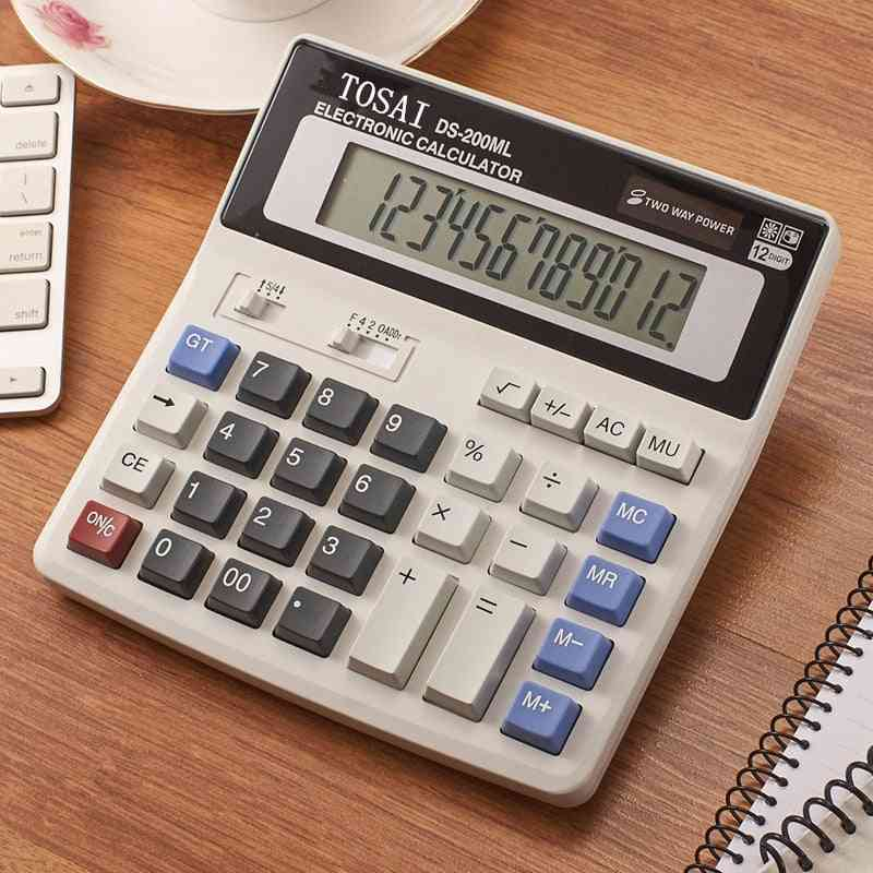 Calculator Solar Battery, Dual Power, Simple Digit Lcd Display, Office School Special, Multi-function