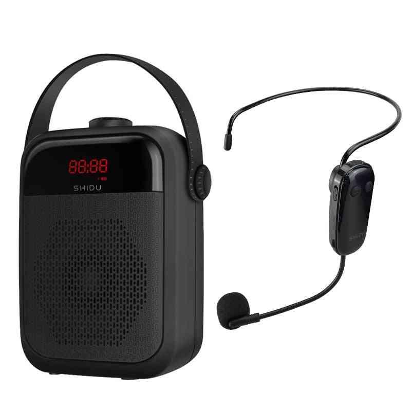 Portable Voice Amplifier Wireless Microphone Audio Bluetooth Speaker Megaphone Loudspeaker Recording Tws Fm Radio H6