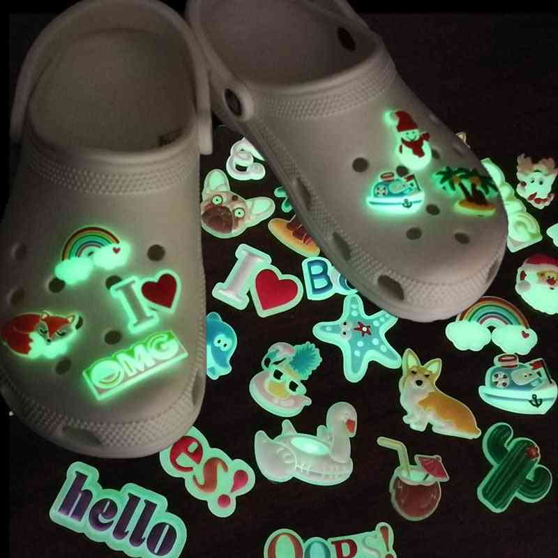 Glowing Pvc Shoe Charms Medical Accessories Decorations