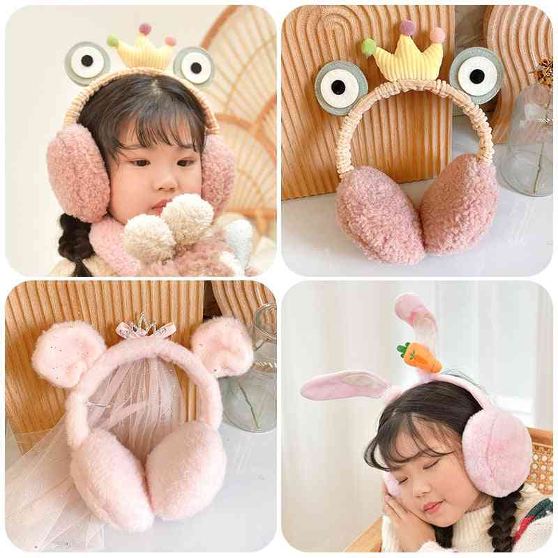 Autumn And Winter's Solid Color Earmuffs Warm Headphones