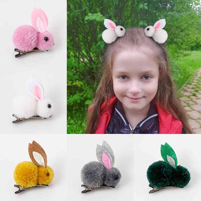 Girl Simple Rabbit Hair Clip