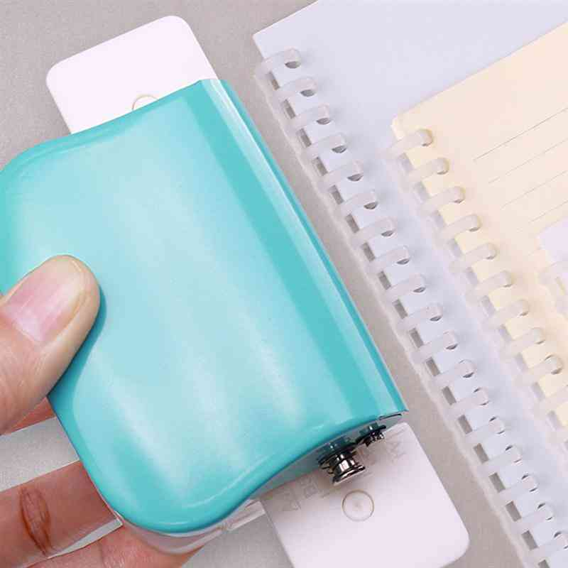 Holes Puncher, Paper Notebook Stationery, Diy Handheld Tool For Students, School Office Binding Supplies