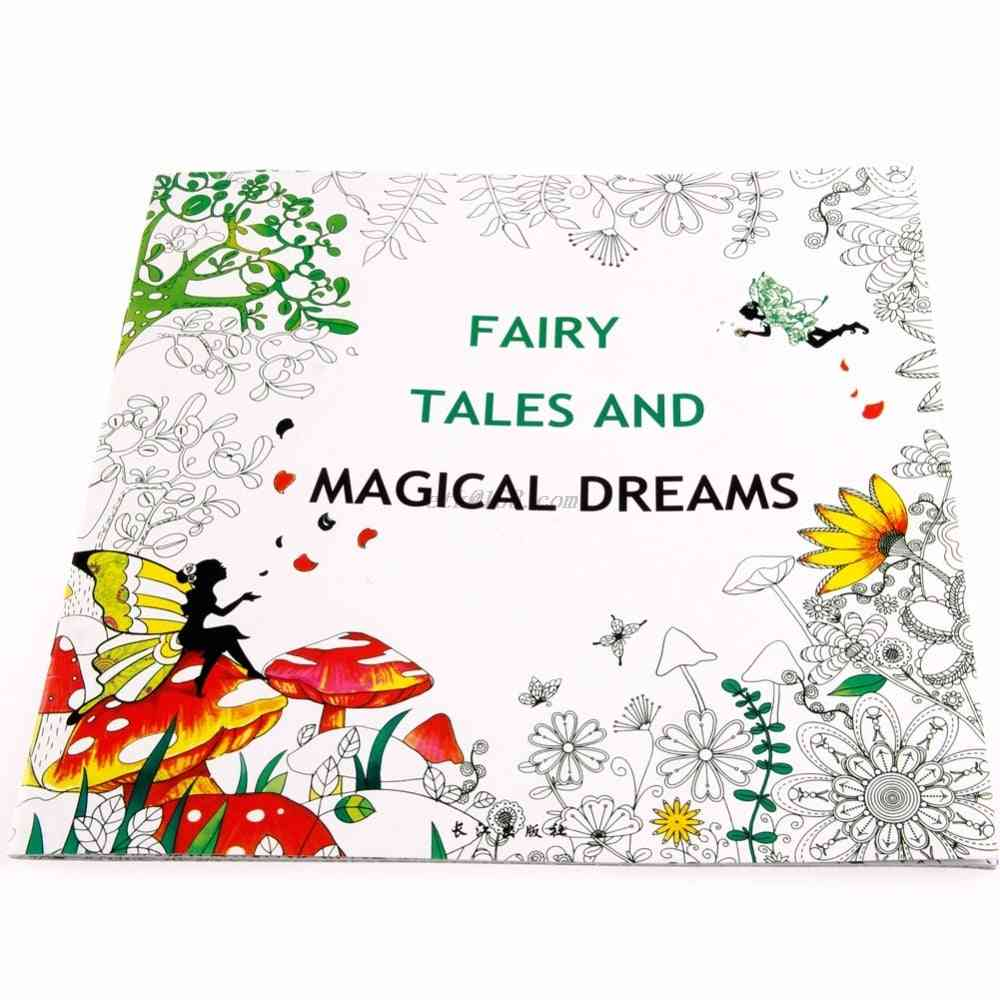 Fairy Tales And Magical Dreams, Adult Graffiti Coloring Book