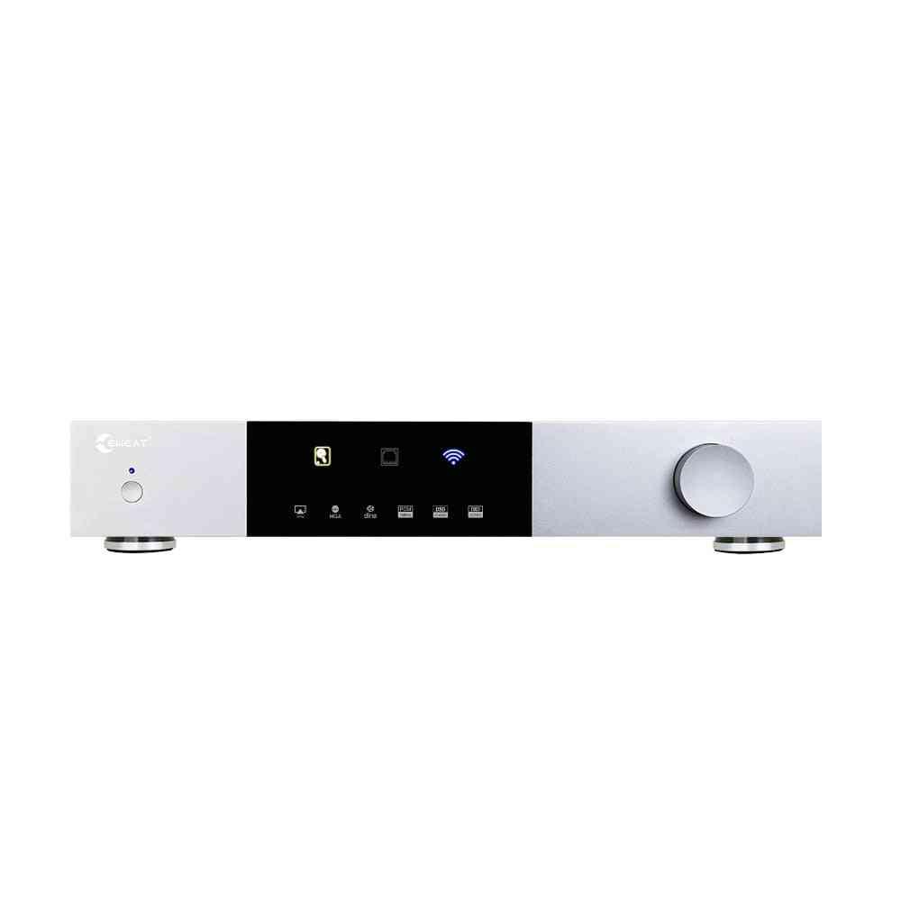 Digital Media Player Akm4493eq Velvet Sound Dmp20 With Hdd Bay Up To 14tb Bluetooth4.1 Xlr Dsd512 Mp3 Multimedia Hifi Tv Box
