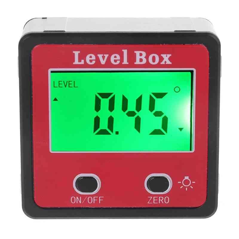 Inclinometer Spirit Level Gauge Meter & Bevel Level Magnetic Base