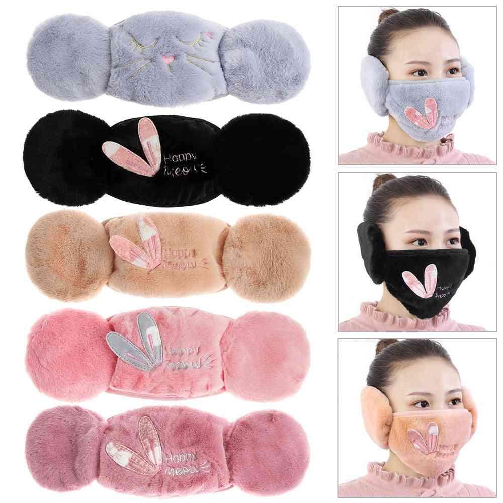 Women Winter Warm Plush Earmuffs