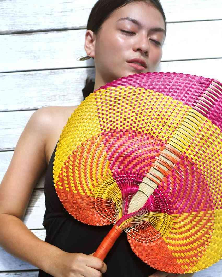 Balinese Woven Hand Fan