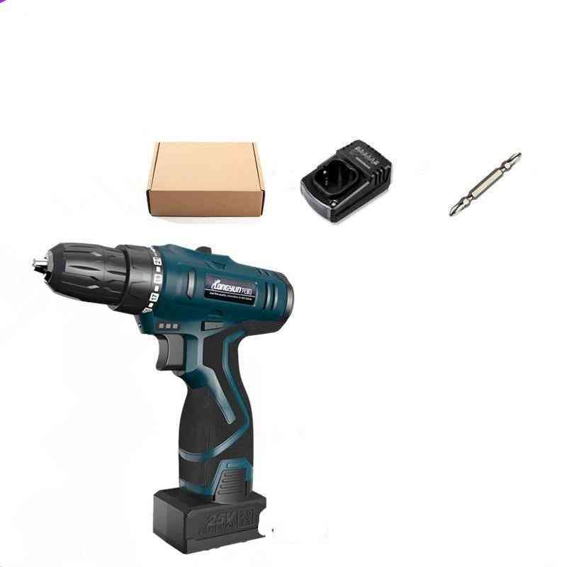 25v Multi-function Rechargeable Lithium Battery Electric Drill