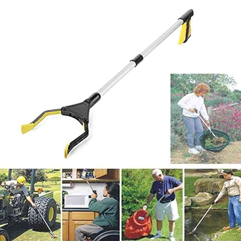 Foldable Curved Handle Garbage Clip Portable Pickup Tool