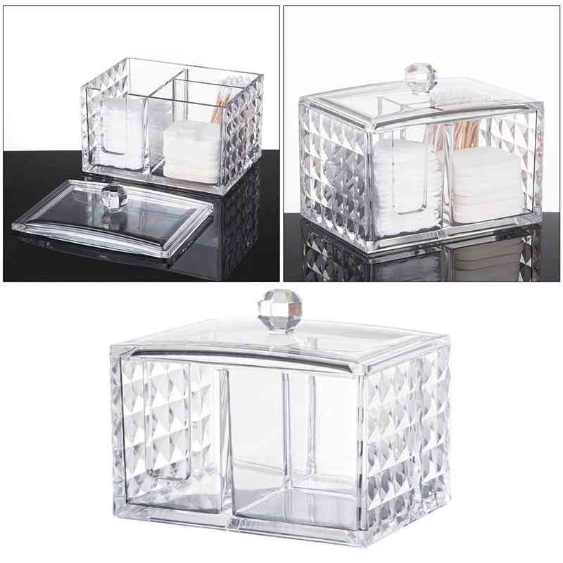 Makeup Swab Box, Pad Organizer, Cosmetics Storage Container