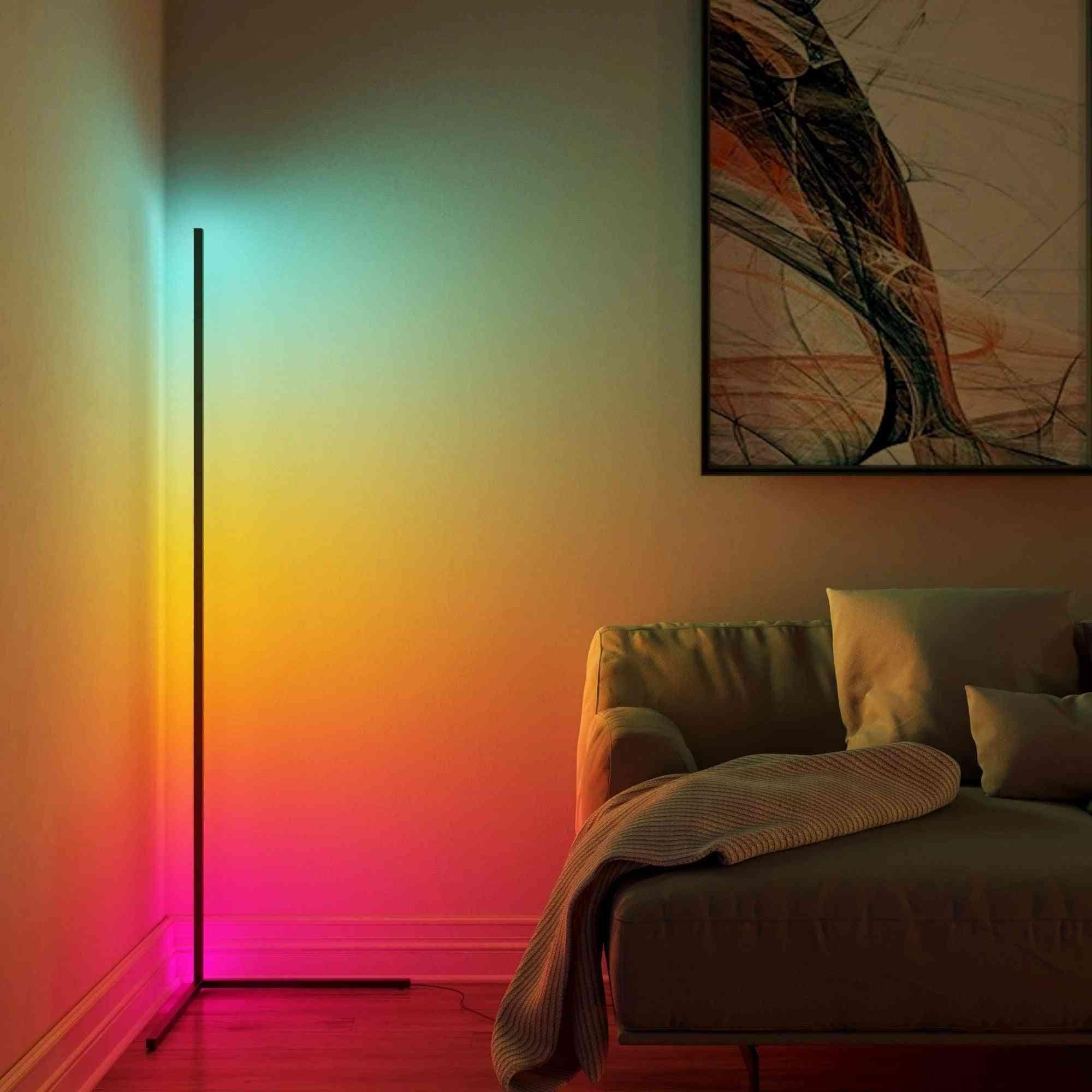 Led Corner Rgb Floor Lamp For Indoor Lighting Standing Lamps