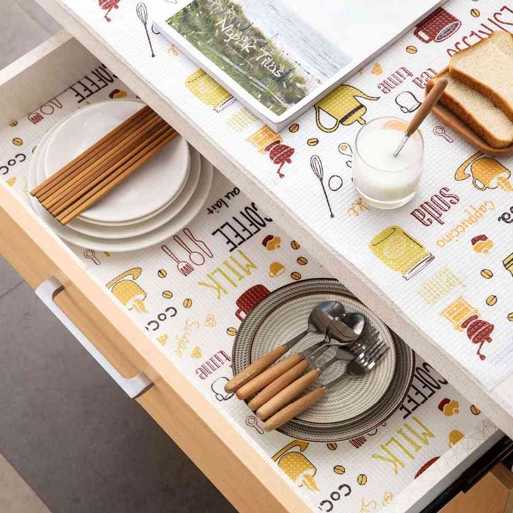 Kitchen Drawer Liner Cabinets Pad, Paper Cupboard Placemat, Household Wardrobe Pad, Thick, Waterproof, Shelf Liner Shoes Cabinet Mat