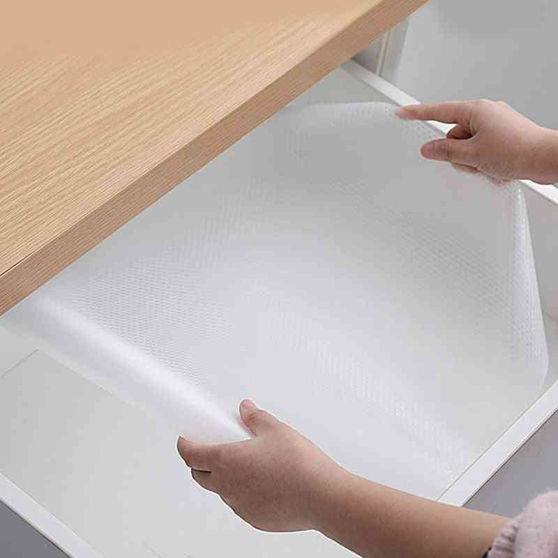 Clear Waterproof Oilproof Shelf Cover Mat, Drawer Liners, Non-adhesive, Non-slip, Protector Transparent Covers