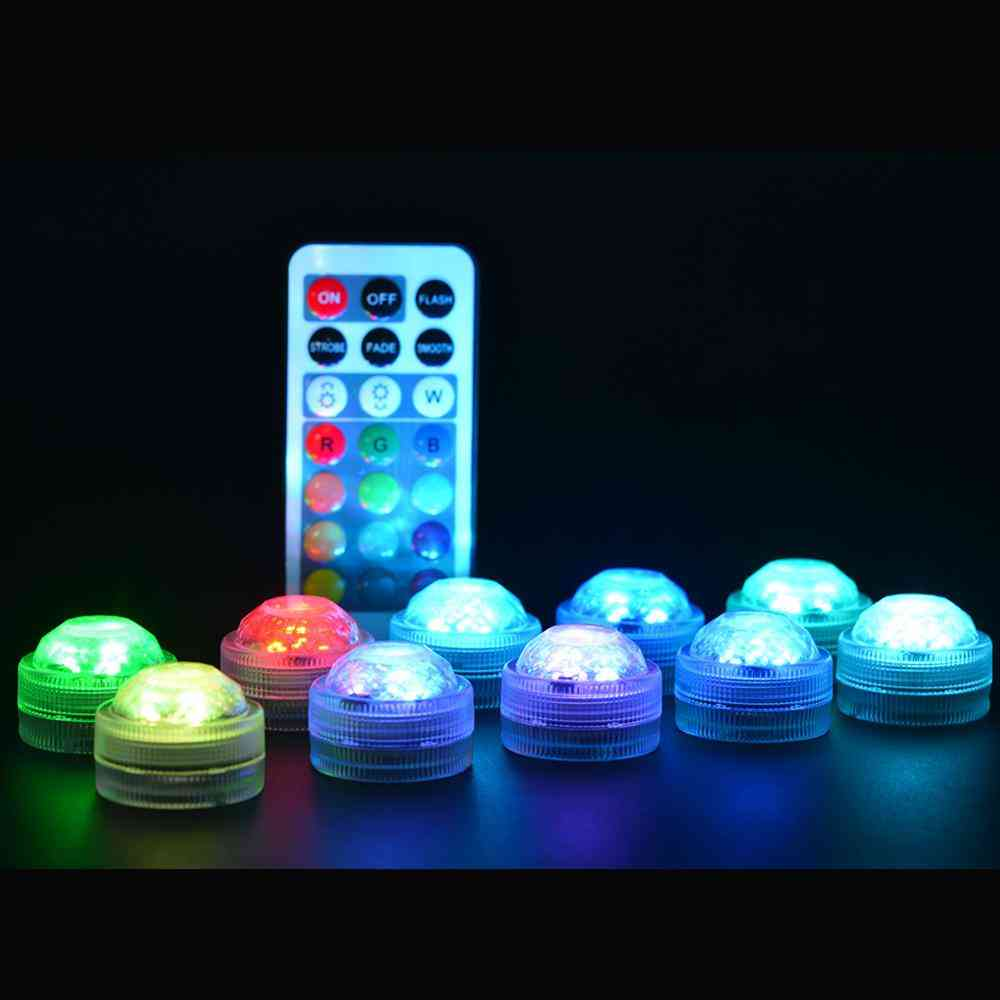 Led Remote Controlled Rgb Submersible Light Underwater Night Lamp Decoration