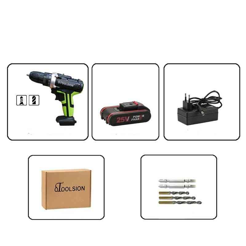25v Electric Drill Battery Drill Power Tool Set