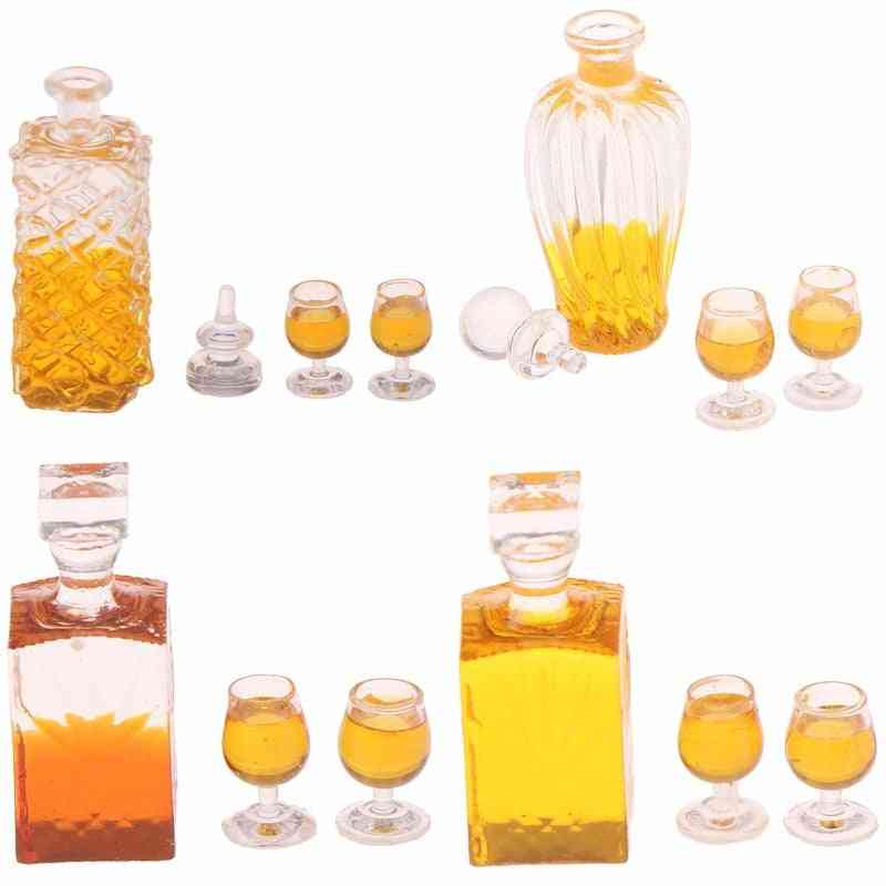 Colorful Wine Bottles Dollhouse Miniature 1:12 Scale Classic Scale Models Baby Diy
