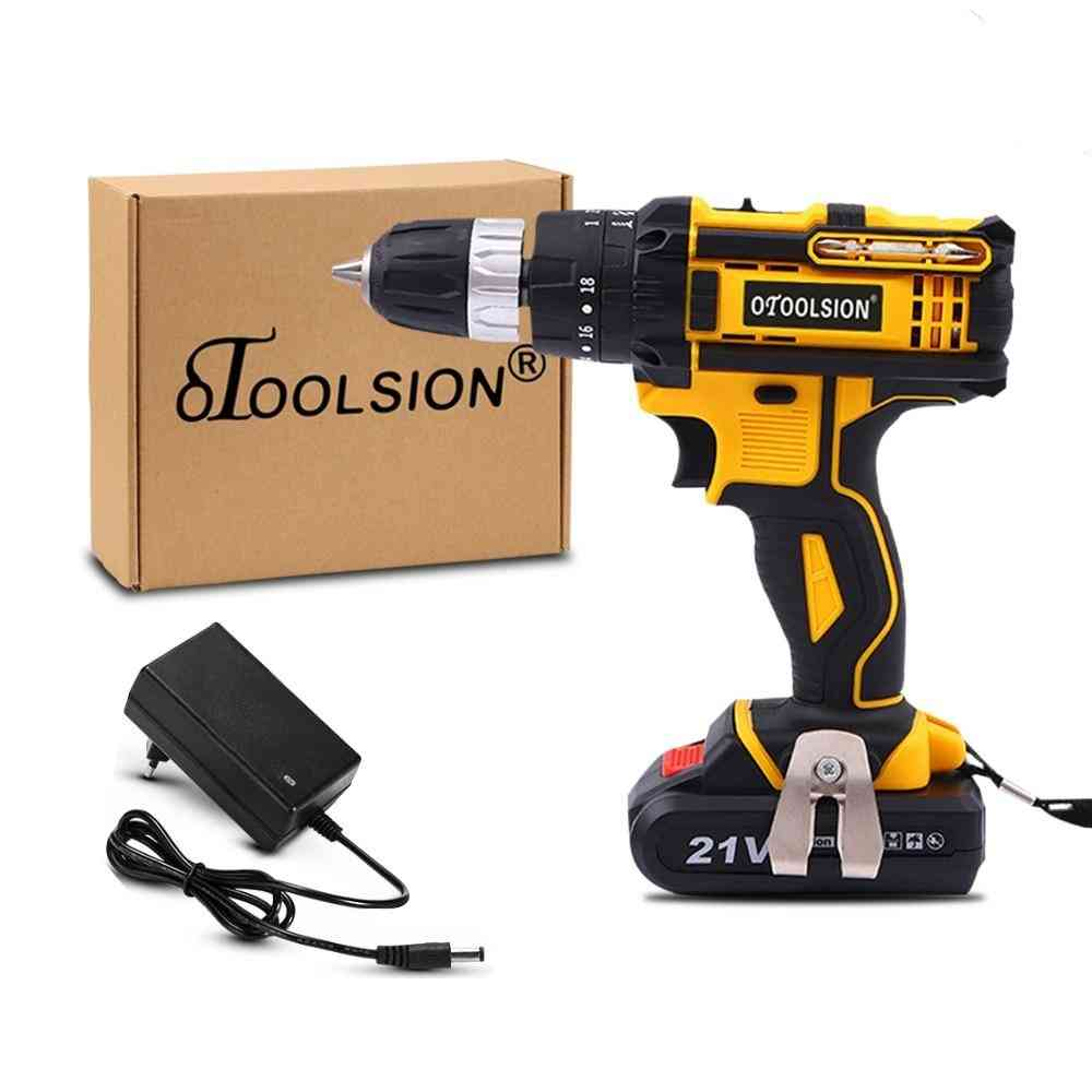 Electric Screwdrivers 1500mah Impact Cordless Drill Lithium Battery