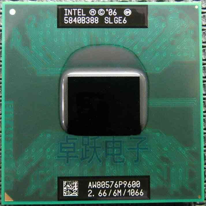 Core 2 Duo P9600 Slge6 2.66g/6mb/1066mhz Mobile Cpu P9600 Laptop