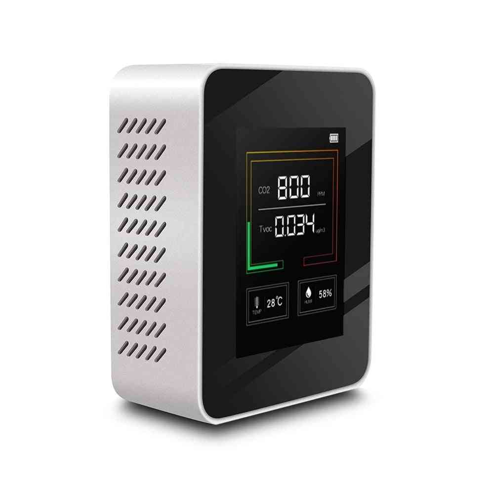 Air Quality Monitor Carbon Dioxide Tvoc Formaldehyde Hcho Detector