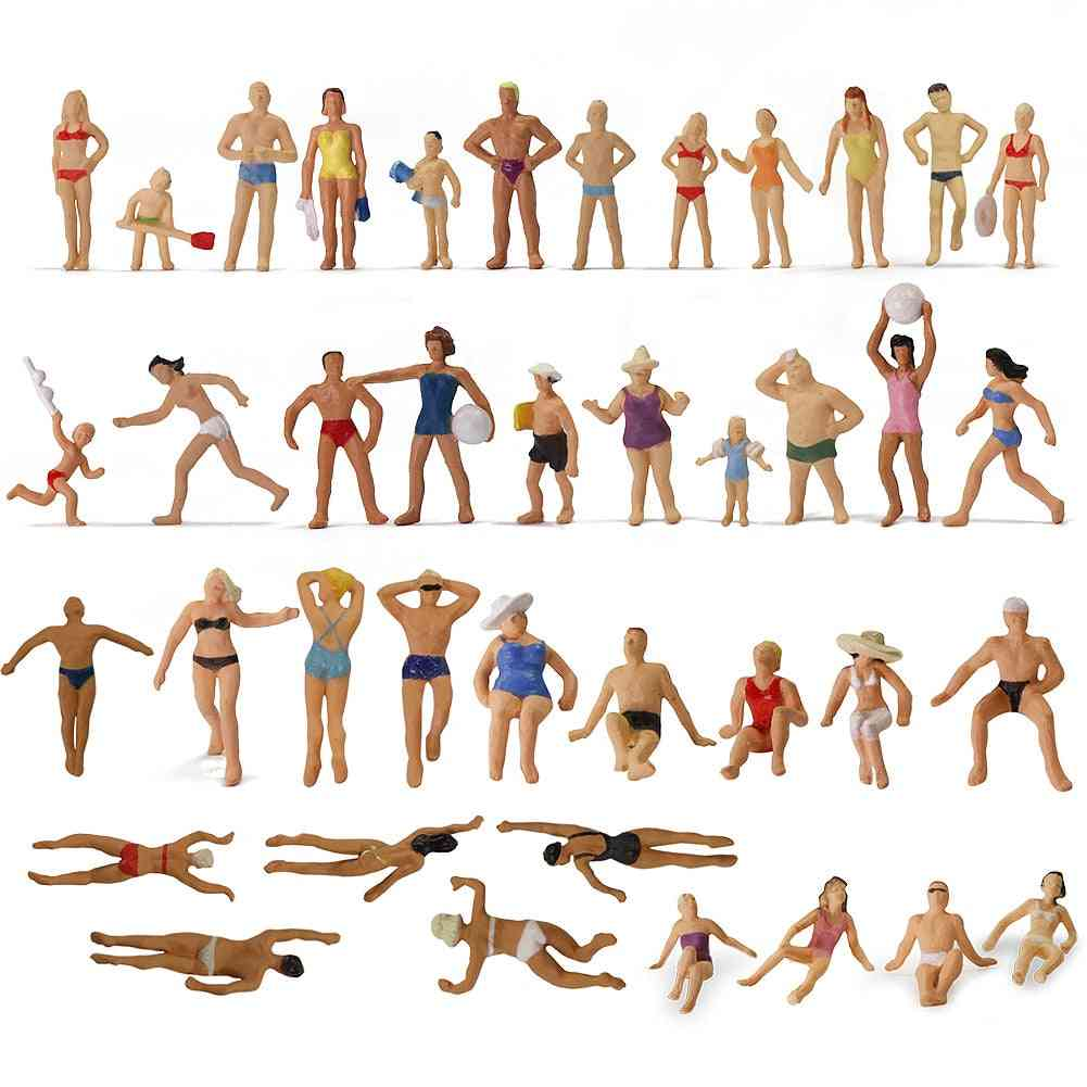 Ho Scale Swimming Figures 1:87 Swimming People Model Trains