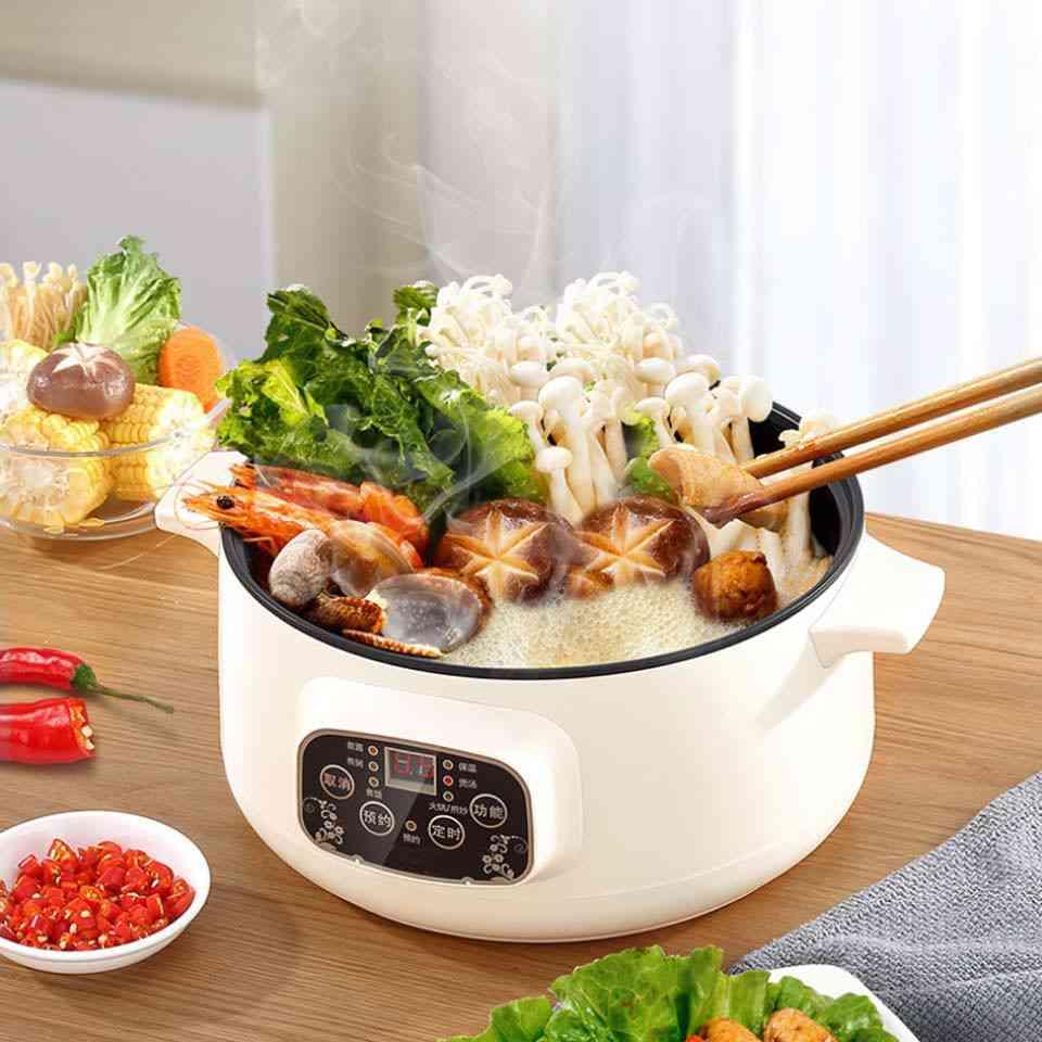 Multifunctional Electric Cooker Heating Pan, Cooking Pot Machine, Hotpot Steamer, Mini Rice Cooker