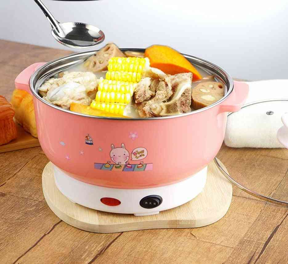 Multifunctional Electric Cooker, Heating Pan, Stainless Steel Hotpot, Rice Steamer, Steamed Eggs, Soup, Pot