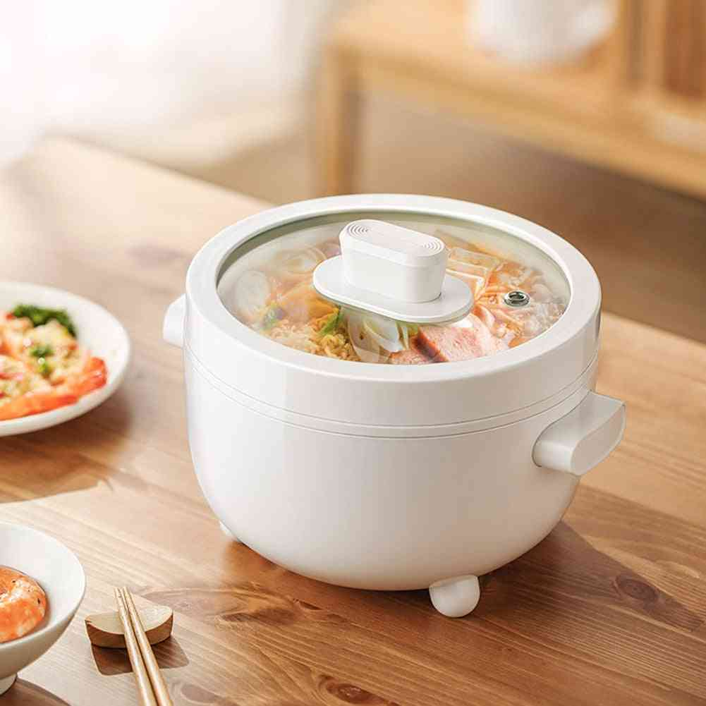 Electric Food Steamer, Cooking Pot, Non-stick, Ceramic Liner Frying Pan, Instant Noodles