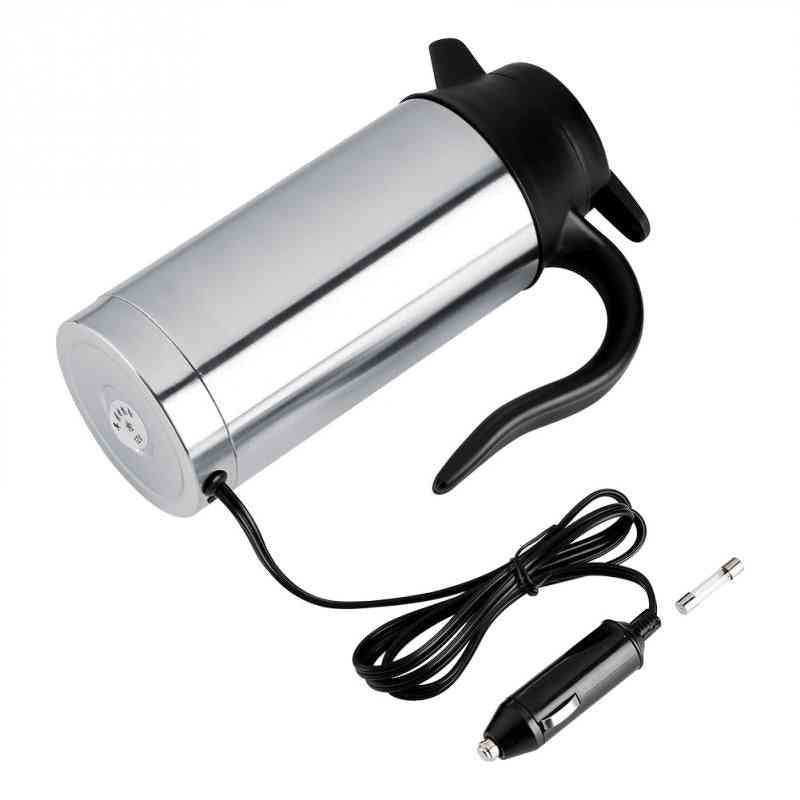 Stainless Steel Coffee Mug With Cigarette Lighter Auto Accessories Coffee Kettle