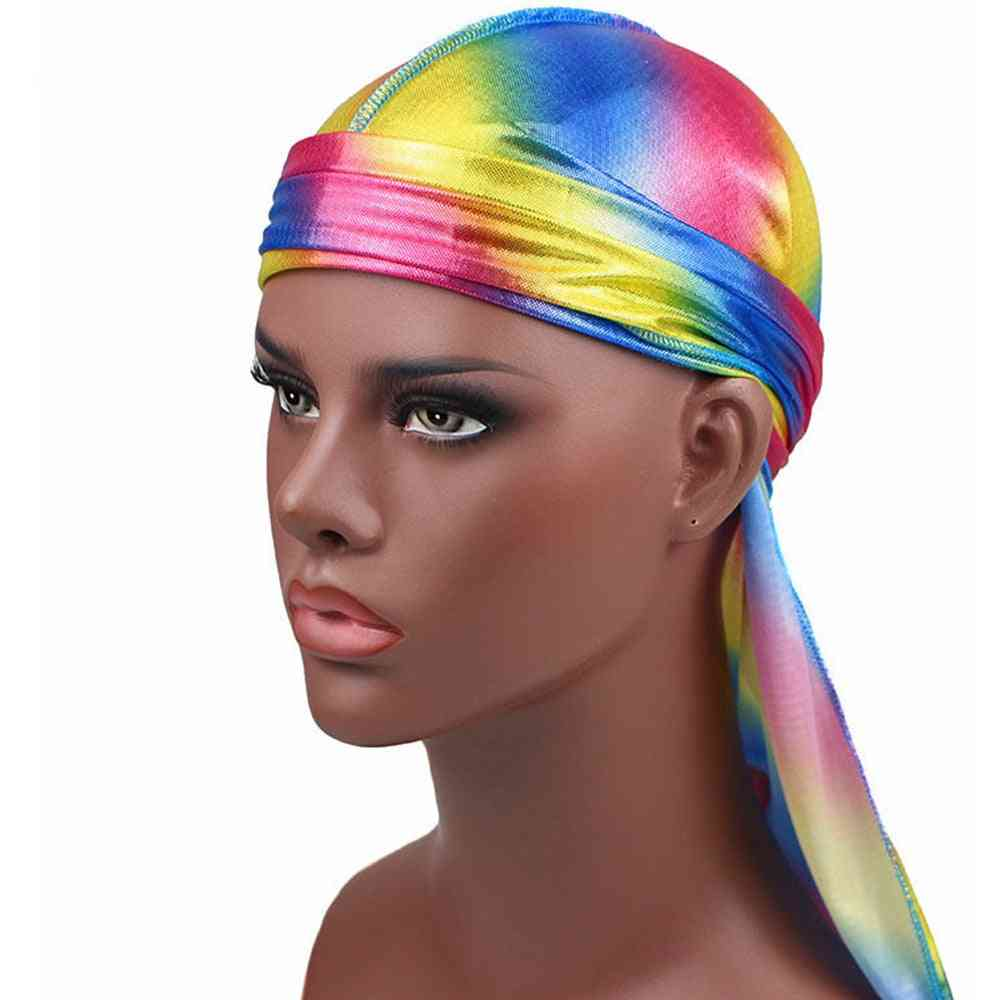 Men's Satin Bandanna Turban Wigs Pirate Hat Headband