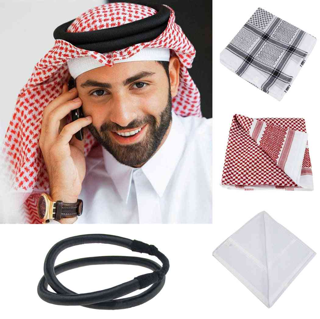 Islamic Men Head Scarf, Traditional Muslim Hijabs