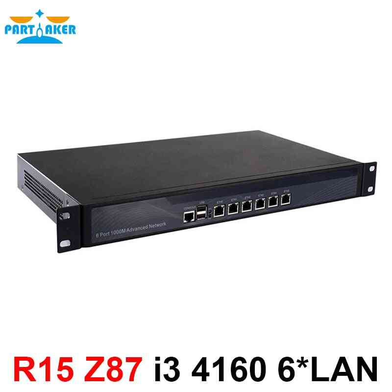 1u Network Firewall Router With 6 Ports Gigabit Lan Intel Core I3 4150 3.5ghz