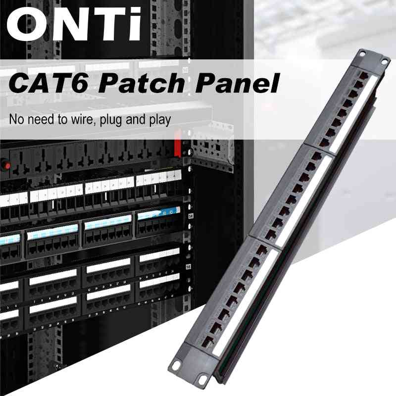 Straight-through Cat6 Patch Panel Cable Adapter Ethernet Distribution Frame