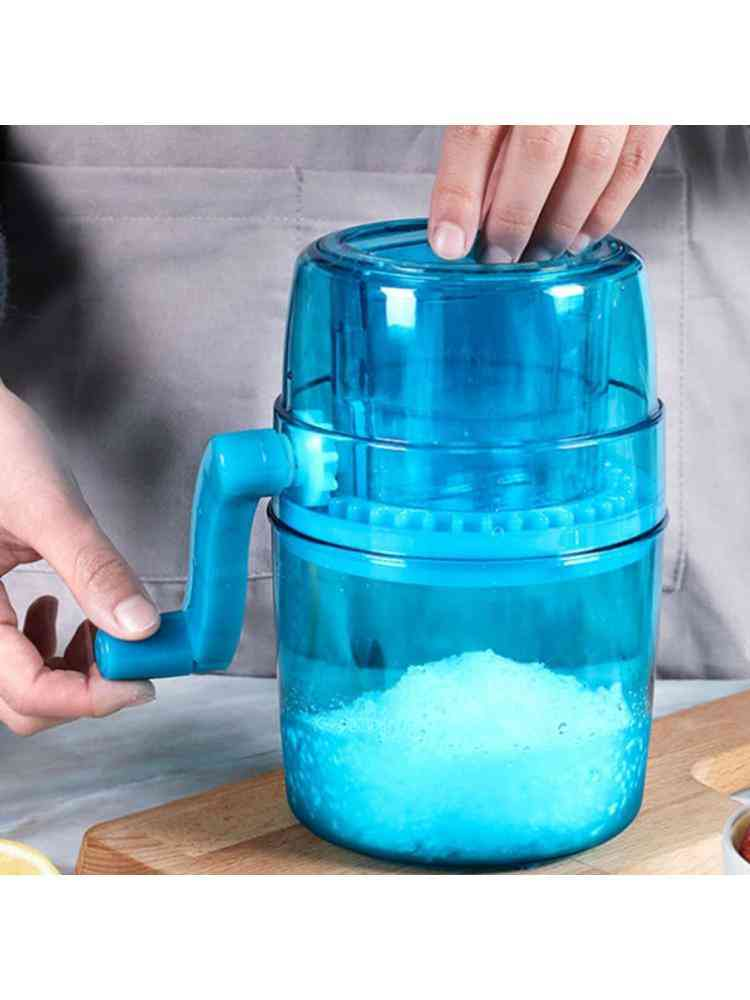 Ice Shaver And Snow Cone Machine, Premium, Portable, Manual Crusher And Shaved, Machine With Cube Trays