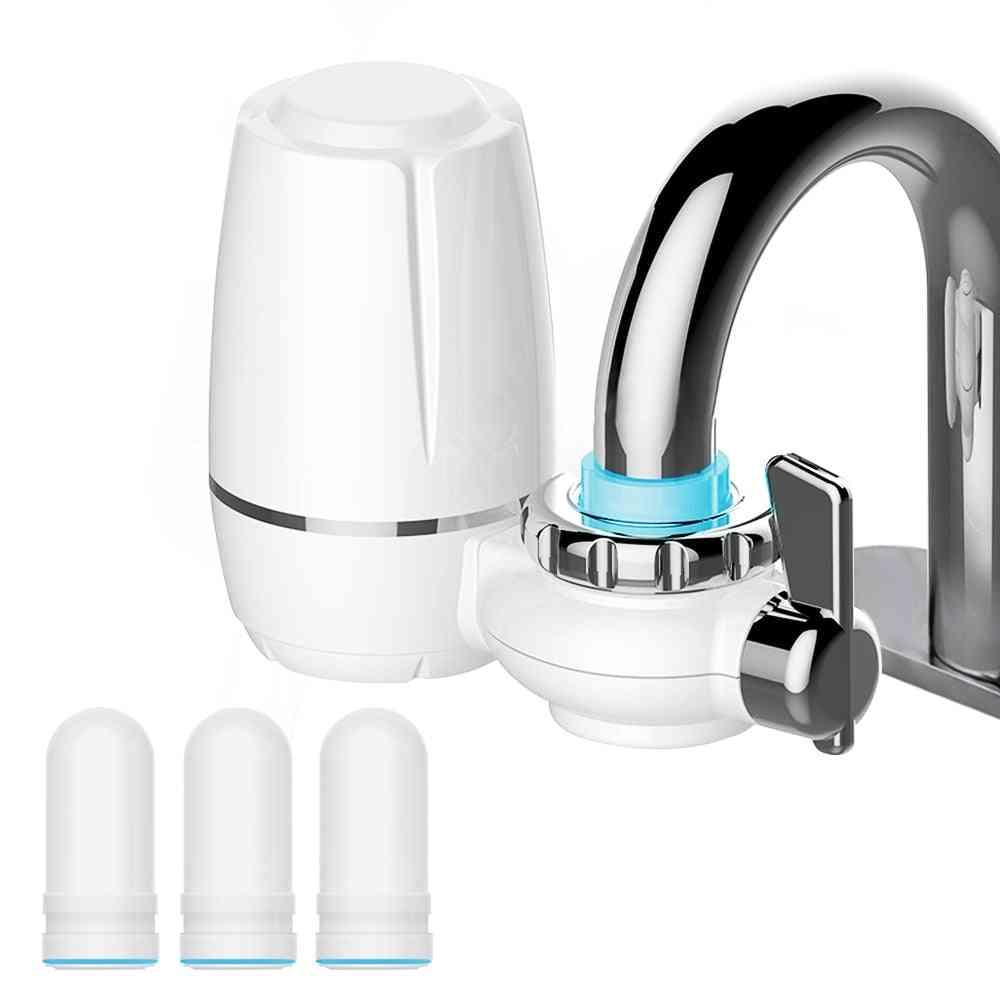 Ceramic Filter Water Tap, Purifier Kitchen Faucet, Attach Cartridges, Rust Bacteria Removal, Percolator
