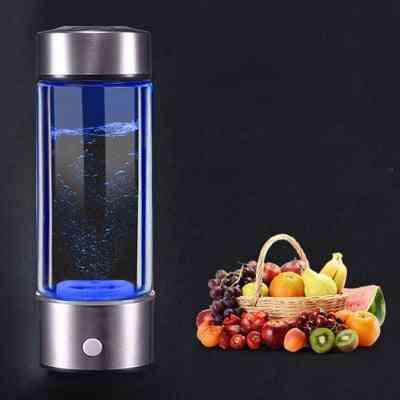 Hydrogen Water Bottle Filter Ionizer Generator, Maker Energy Cup, Healthy Anti-aging, Alkaline Electrolysis Drink