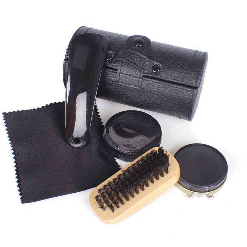 Shoe Polish Brush Set, Leather Shoes Travel, Colorless Polish Maintenance Oil, Care Set