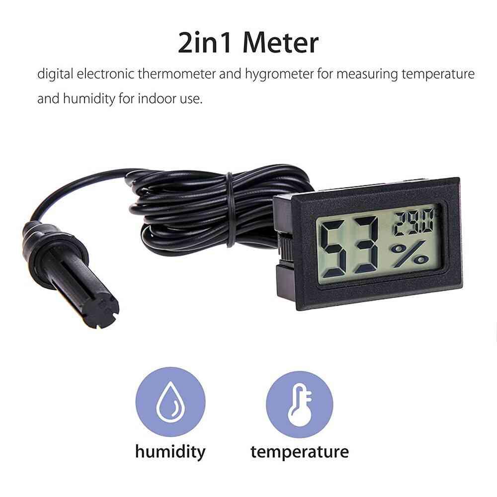Digital Mini Lcd Humidity Meter Freezer Fridge Thermometer For  Aquarium Chillers