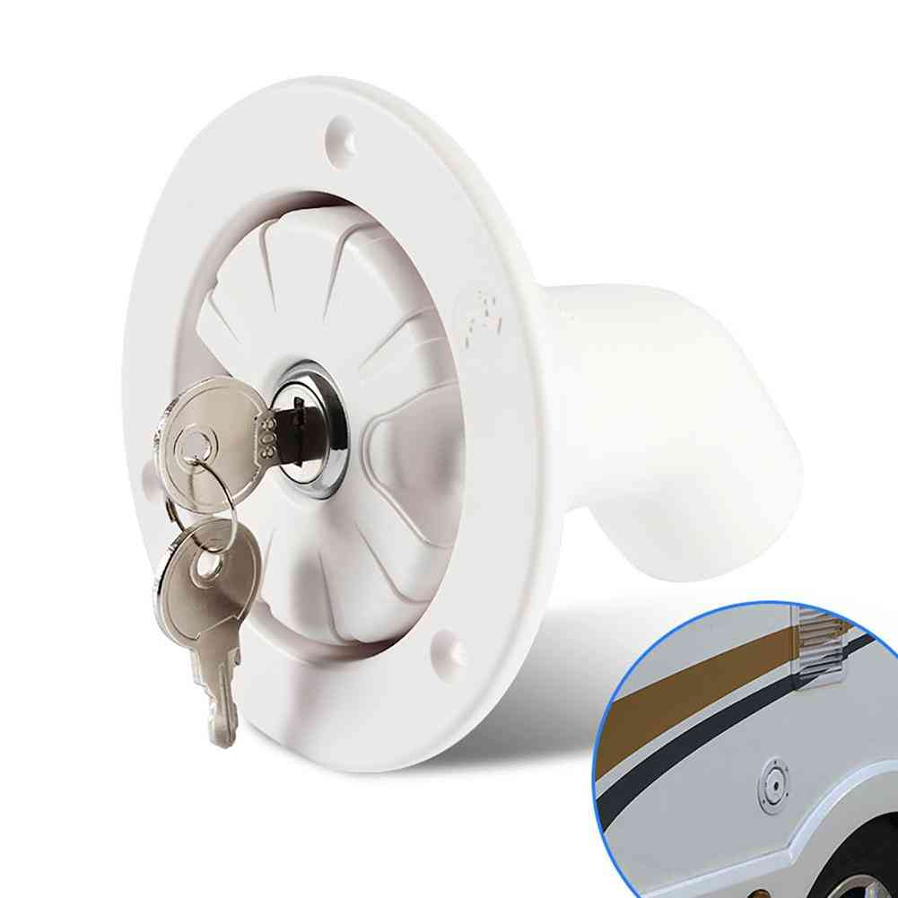 Rubber Lockable Leakproof Fresh Water Inlet  Camper Boat Rv Accessory