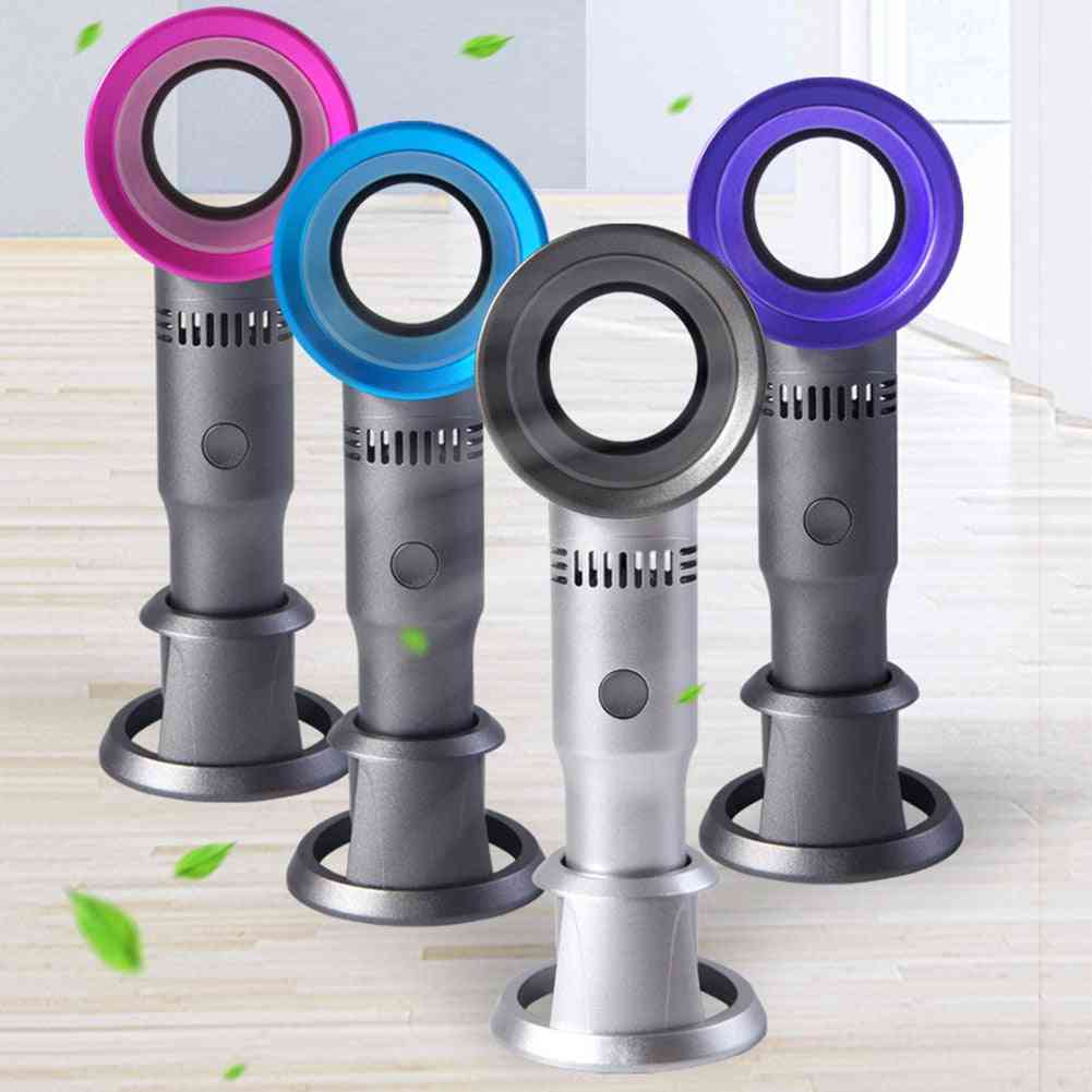 Bladeless Fan, Cordless Usb Charging, Handheld Cooling Cooler, Summer Leafless Desktop