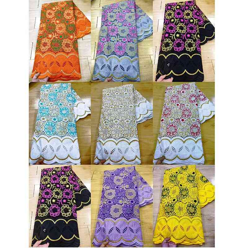 Cotton Embroidery Material Beads Flower Mesh Lace Cloth