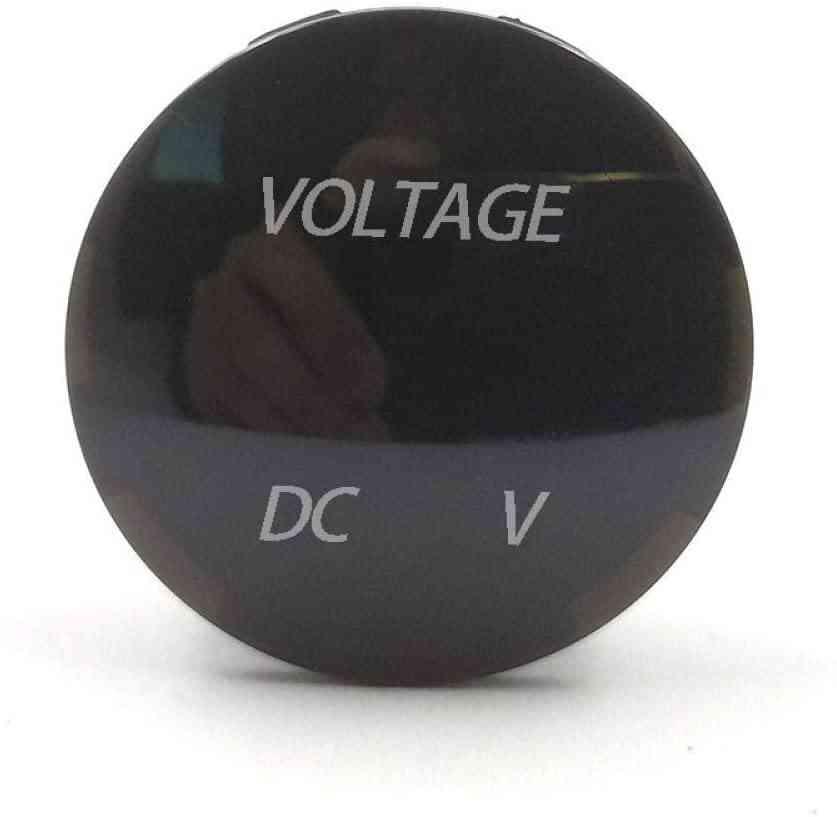 Mini Round Dc5v-48v Led Panel Digital Tester Monitor Display Voltmeter