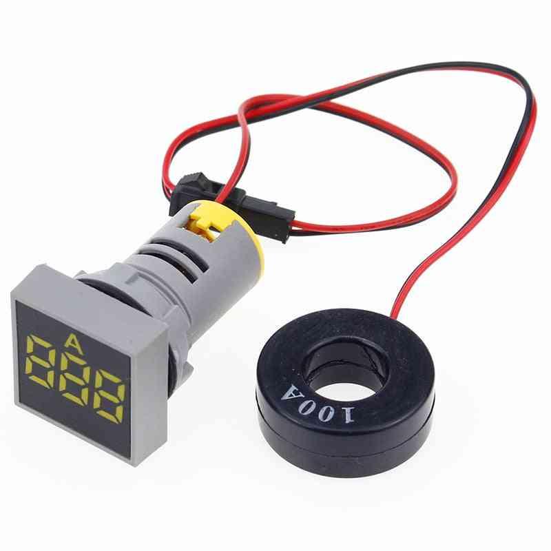 Digital Current Meter/voltage Meters Indicator Led Lamp Square Signal Light