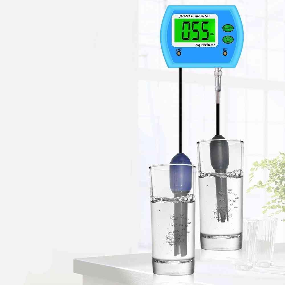 2 In 1ph Meter Ec Meter For Aquarium Multi-parameter Water Quality Monitor 0-14.00ph 19.99ms/cm Ph / Ec Monitor Acidometer30%off