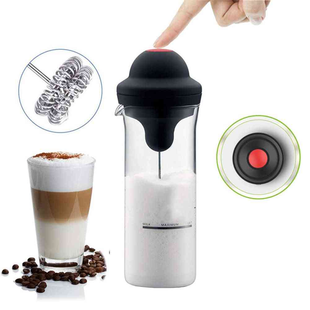 Electric Milk Frother, Handheld Battery Operated, Whisk Mixer, Stirrer Jug, Cup, Coffee Foam Maker, Egg Beater