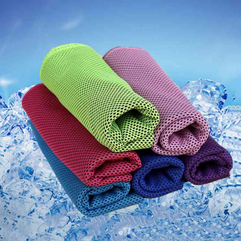 1pcs Cool Microfiber Sports Towel, Fast Cooling Ice Towel