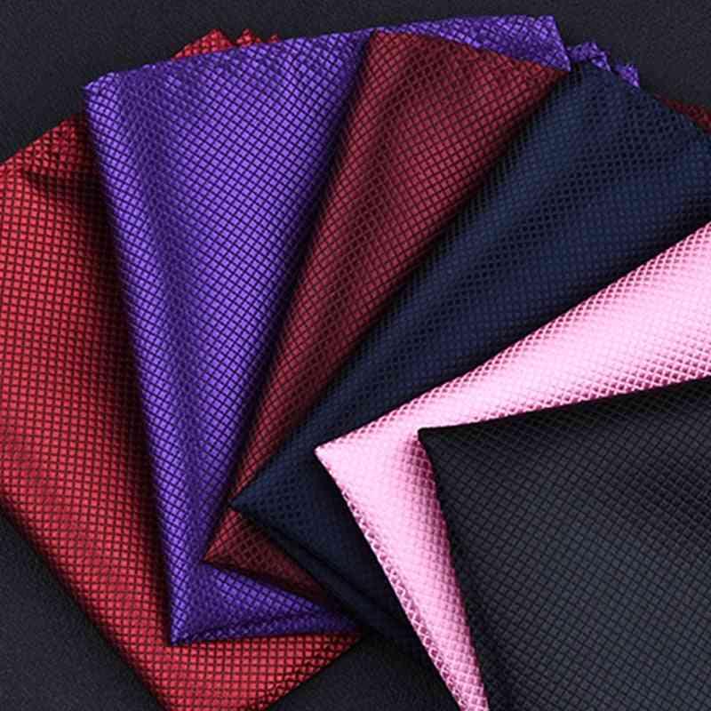 High Fashion Pocket Square Grid Handkerchief Men Accessories