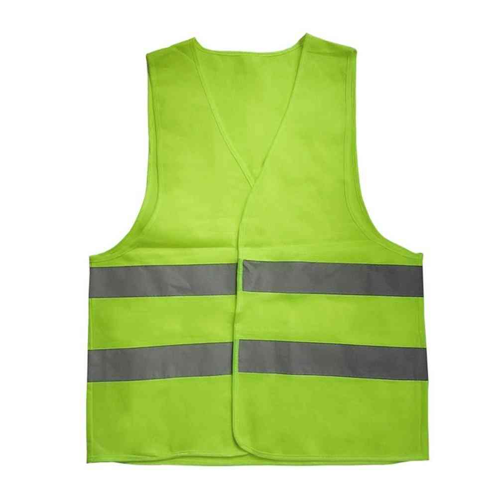 Vest Reflective Fluorescent Outdoor Safety Clothing Running Ventilate