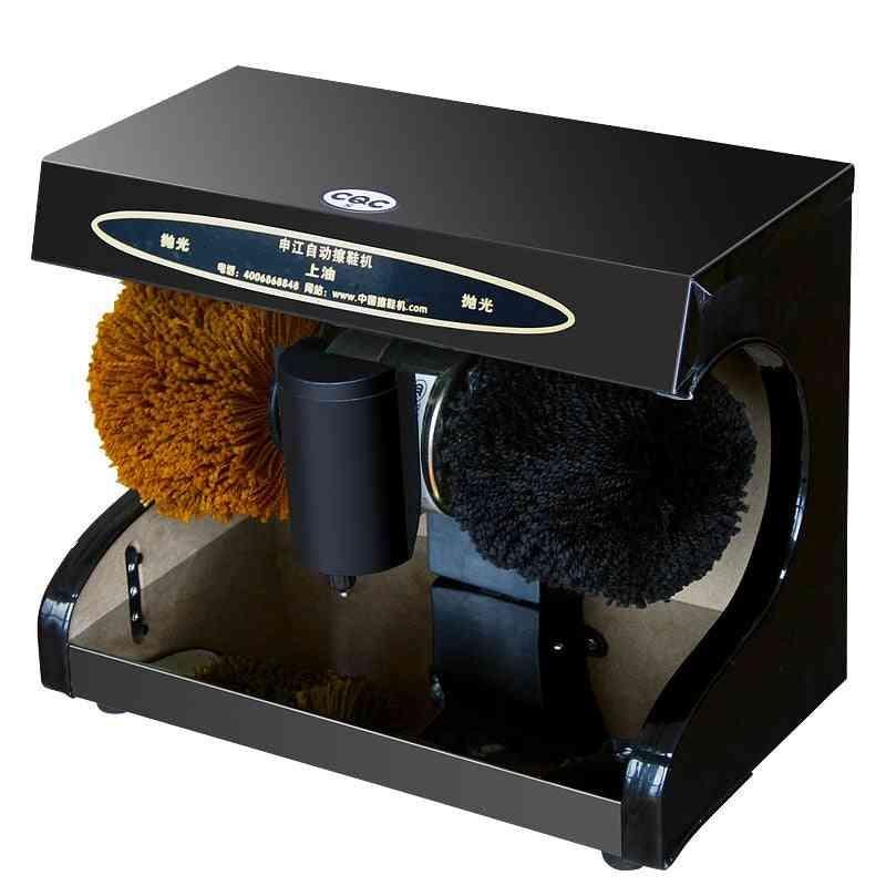 Household Office Fully Automatic Shoe Polisher, Leather Shoes Induction Polish, Electric Brush Machine