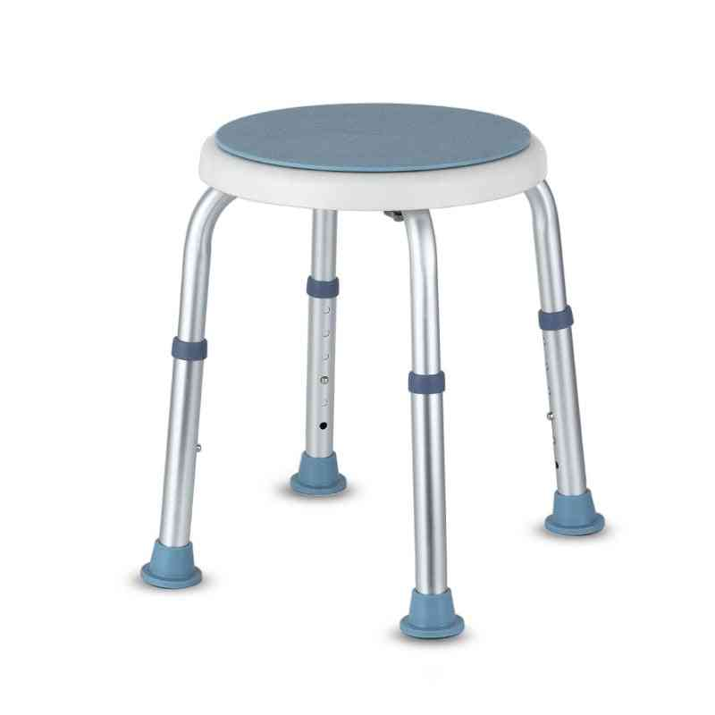 Rotatable Stool Non-slip Bath Chair 6 Gears Height Adjustable Seat Safe Bathroom
